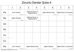 Zorunlu Dersler Şube-4