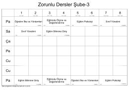 Zorunlu Dersler Şube-3