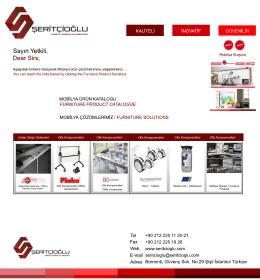 Mobilya Çözümlerimiz Furniture Solutions