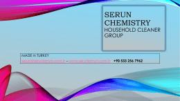 Katalog - Who is Serun Kimya?