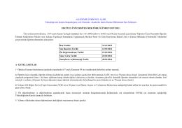 ilan metni - Personel Daire Başkanlığı