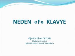 neden - f - klavye - Uludağ Üniversitesi