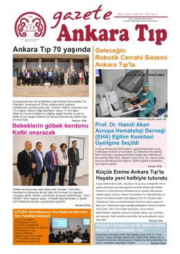 Ankara Tıp 70 yaşında - Ankara Üniversitesi Tıp Fakültesi