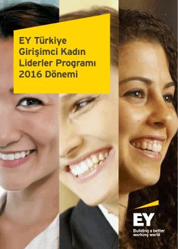 EY Türkiye Girişimci Kadın Liderler Programı Broşürü