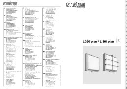 L 360 plan / L 361 plan