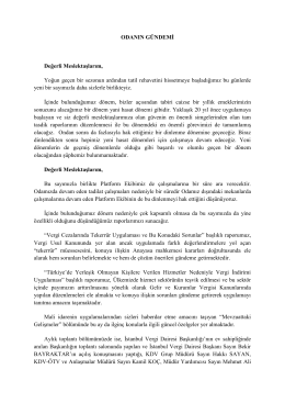 Odanın Gündemi - İstanbul Ymmo