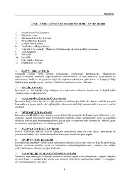 SMMM Staj Başlatma Sınavı Denetim Ders Notları