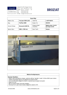 TruLaser 3030 (L20) TruFlow 3200