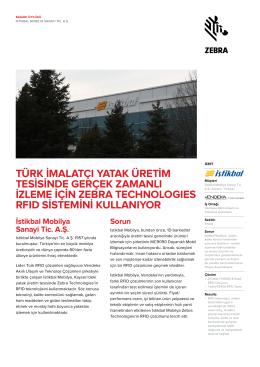 Türk İmalatçı, yatak imalat tesisinde gerçek zamanlı takip için Zebra