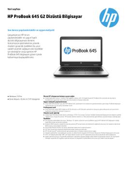 HP ProBook 645 G2 Dizüstü Bilgisayar