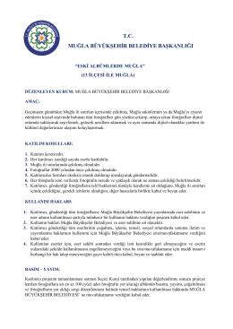 tc muğla büyükşehir belediye başkanlığı