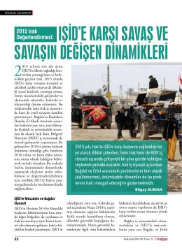 IŞİD`e KarŞI SavaŞ ve SavaŞIN DeğİŞeN DİNamİKlerİ