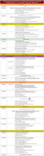 ( 5 - 7 Şubat 2016) - BİLİMSEL PROGRAM - HOD-KİT