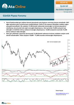 Günlük Piyasa Yorumu