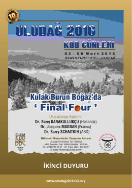 ULUDAG 2016 - - Uludağ 2016 KBB Günleri