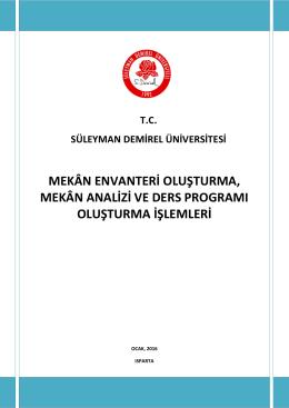 Ders Programı Yardım - Süleyman Demirel Üniversitesi