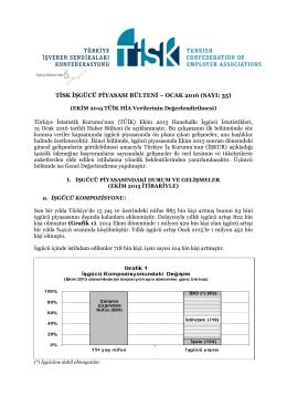 tisk işgücü piyasası bülteni – ocak 2016 (sayı: 35)