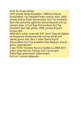 Cv - Türkiye Acil Tıp Derneği
