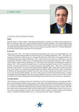A. MERT AKSU - Türkiye Mükemmellik Ödülü Yürütme Kurulu
