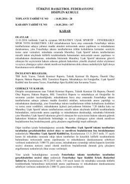 karar 147 muratbey uşak sportif – fenerbahçe spor toto basketbol ligi