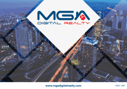 Digital Franchise - MGA Digital Realty
