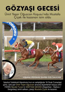 Ümit Yaşar Oğuzcan Koşusu`nda Mustafa Çiçek ile