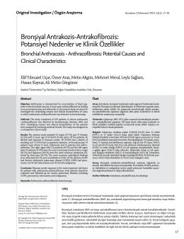 Bronşiyal Antrakozis-Antrakofibrozis: Potansiyel