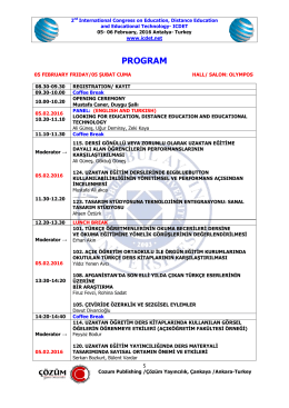 PROGRAM - International Congress on Education, Distance