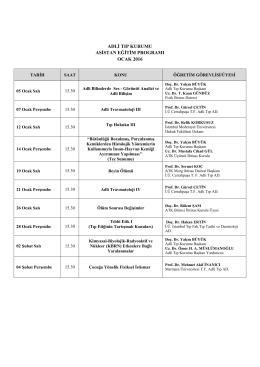 Ocak 2016 Asistan Eğitim Programı