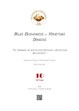bilgi ekonomisi ve yönetimi dergisi