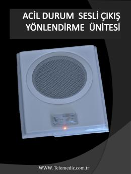 acil durum sesli yönlendirme sistemi