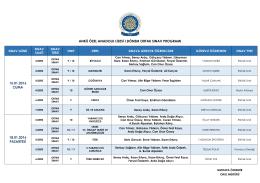 ankü özel anadolu lisesi ı.dönem ortak sınav programı 15.01.2016