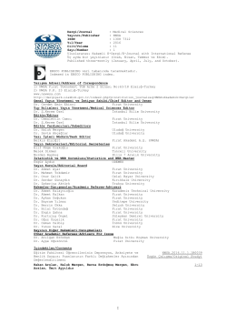 Yazışma Adresi/Address of Corespondence 1) NWSA Fırat