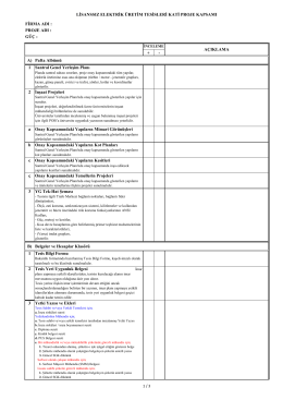 (21- Lisanssız Kati Proje Kontrol Listesi \(revize\))