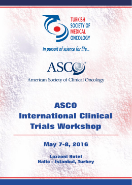 ASCO International Clinical Trials Workshop