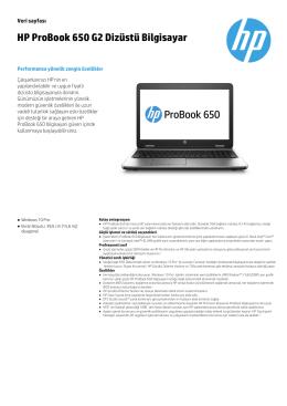 HP ProBook 650 G2 Dizüstü Bilgisayar