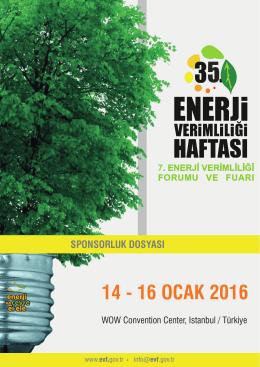 Sponsorluk - 7. Enerji Verimliliği Forumu ve Fuarı