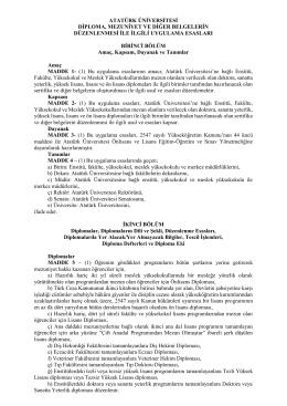 atatürk üniversitesi diploma, mezuniyet ve diğer belgelerin