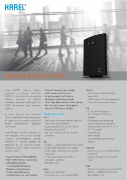 DB260 IP DECT Baz İstasyonu Broşürü