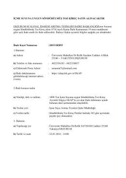 PDF Dokuman İçin Tıklayınız