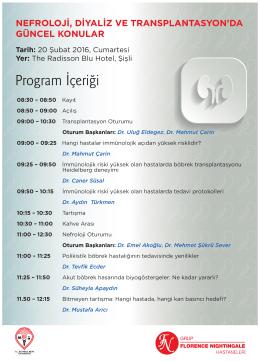 Nefroloji Konferansi Programi 2016