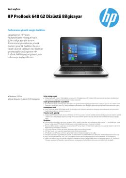 HP ProBook 640 G2 Dizüstü Bilgisayar