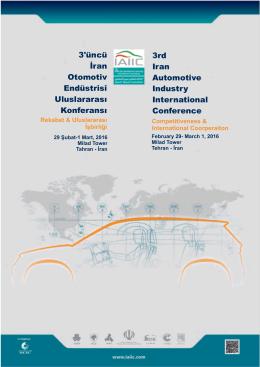 3`üncü İran Otomotiv Endüstrisi Uluslararası Konferansı 3rd Iran