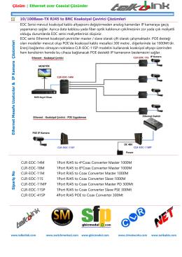 10/100Base-TX RJ45 to BNC Koaksiyal Çevirici Çözümleri