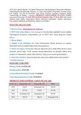 başvuru belgeleri - Siirt Sağlık Yüksekokulu