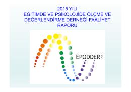 2015 yılı eğitimde ve psikolojide ölçme ve