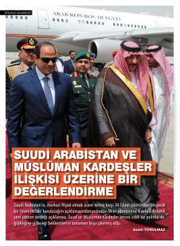 suudi arabistan ve müslüman kardeşler ilişkisi üzerine bir