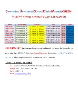 türkiye geneli deneme sınavları için tıklayınız