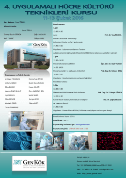 Kurs Programı: 1.gün 13:30-14:30 Açılış Prof. Dr. Yusuf ÖZKUL