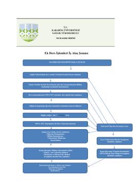 Ek Ders İşlemleri İş Akış Şeması - sağlık yüksekokulu